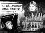 Karikatur, Car Klimahysterie ist Unwort des Jahres 2020 Cartoon: Joe Kaeser Luisa Neubauer streiten sich um Kohle in Australien © Roger Schmidt