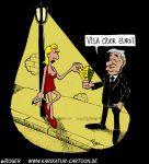Karikatur, Cartoon: Joschka Fischer, © Roger Schmidt