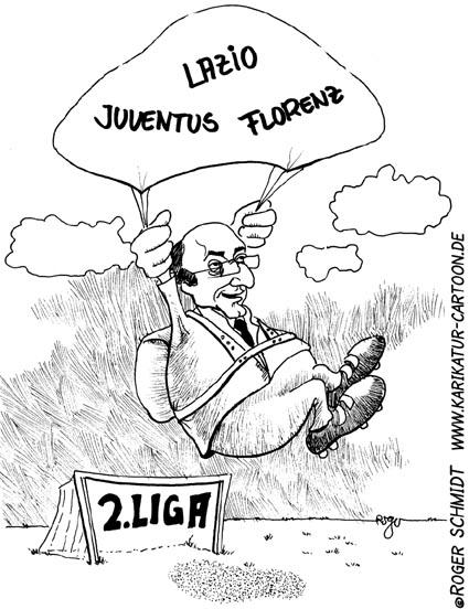 Karikatur, Cartoon: Juventus Turin, © Roger Schmidt