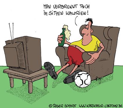 Karikatur, Cartoon: Kalorien reduzieren, © Roger Schmidt