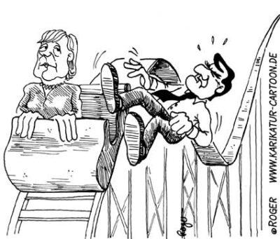 Karikatur, Cartoon: Kanzlerfrage, © Roger Schmidt