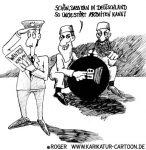 Karikatur, Cartoon: Kaplan, der Kalif von Köln, © Roger Schmidt
