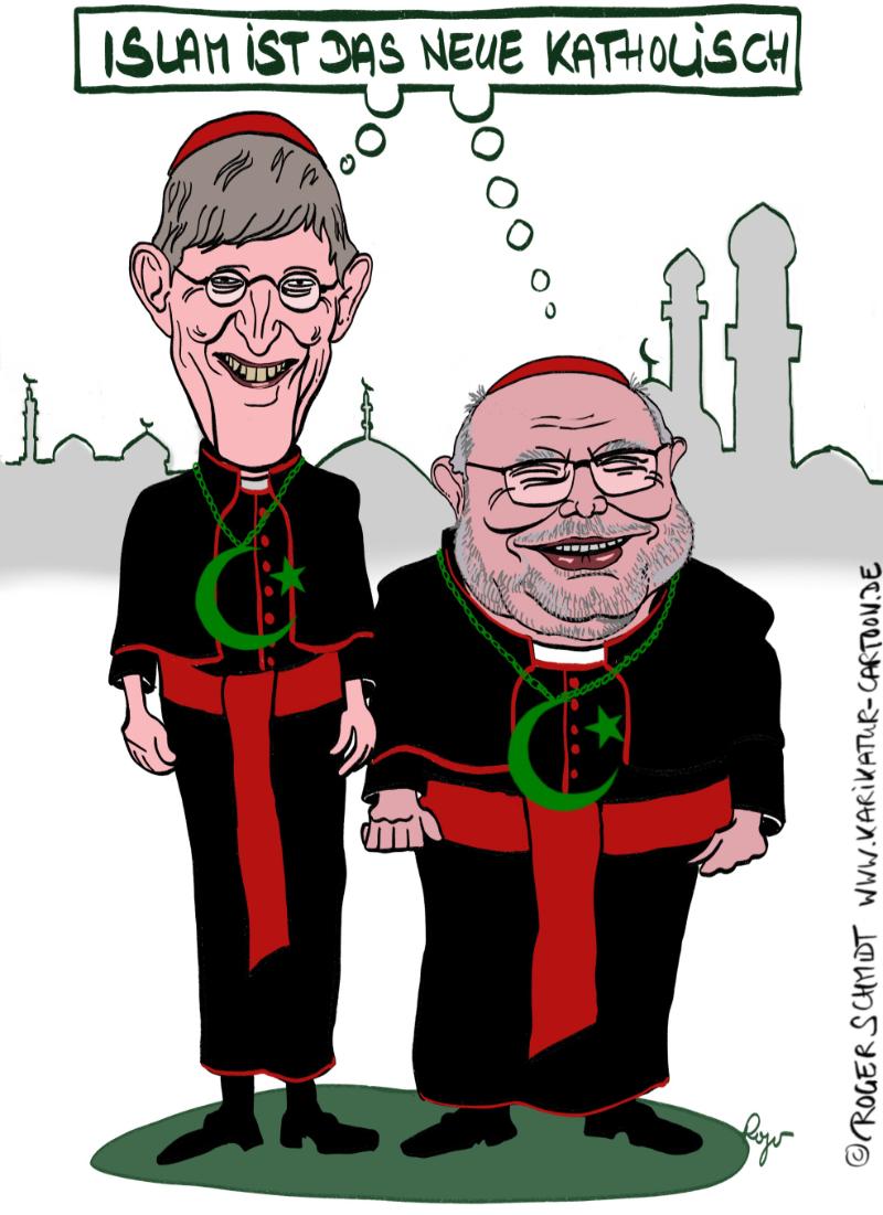 Karikatur, Cartoon: Kardinal Woelki und Marx, © Roger Schmidt