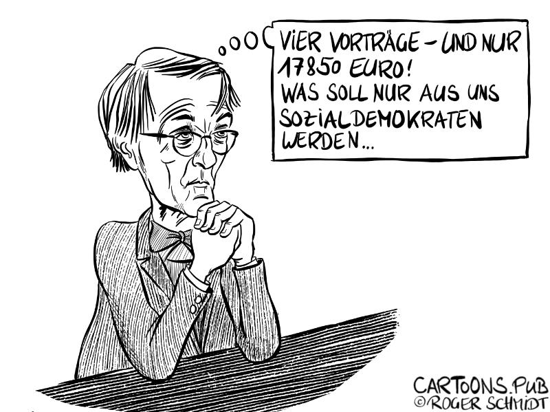 Karikatur, Cartoon: Karl Lauterbach - vergessene Nebeneinkünfte © Roger Schmidt
