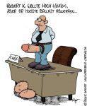 Karikatur, Cartoon: Den Karriereknick vermeiden, © Roger Schmidt