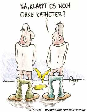Karikatur, Cartoon: Katheter, © Roger Schmidt