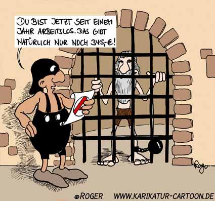 Karikatur, Cartoon: Kerker, © Roger Schmidt
