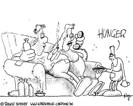 Karikatur, Cartoon: Kinderarmut in Deutschland, © Roger Schmidt
