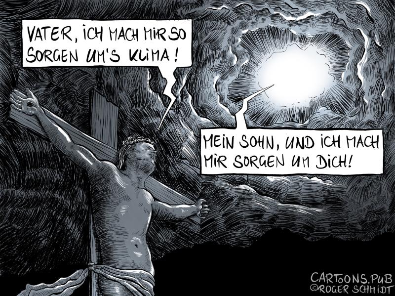Karikatur, Cartoon: Klimahysterie ist Unwort des Jahres 2020 © Roger Schmidt