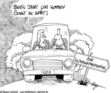 Karikatur, Cartoon: Die Klimakatastrophe und der Sündenfall, © Roger Schmidt