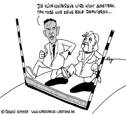 Karikatur, Cartoon: Klimaschutz-Konferenz Kopenhagen, © Roger Schmidt