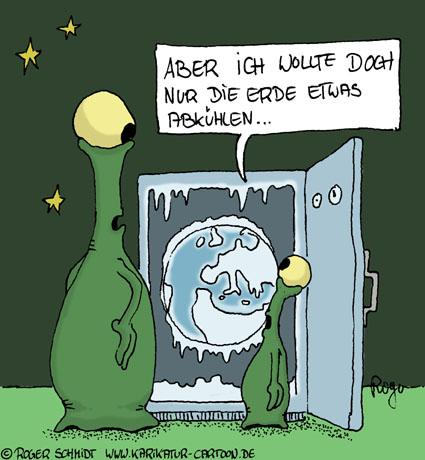 Karikatur, Cartoon: Klimaschutz, © Roger Schmidt