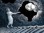 Karikatur, Cartoon: Klimawandler und das Klimawandeln © Roger Schmidt