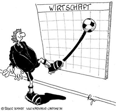 Karikatur, Cartoon: Konjunktur-Prognosen, © Roger Schmidt