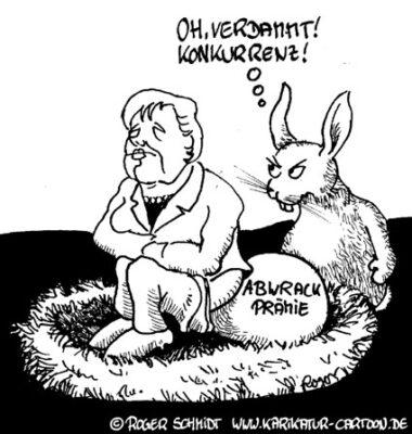 Karikatur, Cartoon: Konkurrenz bei der Abwrackprämie, © Roger Schmidt