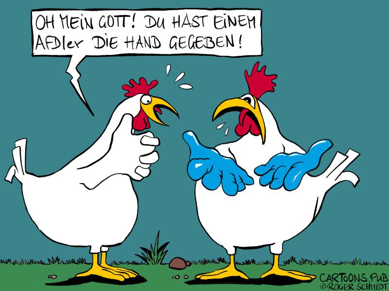 Karikatur, Cartoon: Kontaktschuld © Roger Schmidt