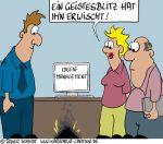 Karikatur, Cartoon: Kreativ-Idee mit Geistesblitz, © Roger Schmidt