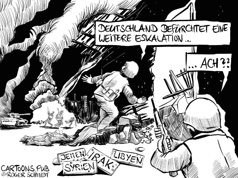 Karikatur, Cartoon: Krieg im Nahen Osten © Roger Schmidt
