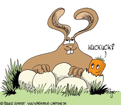 Karikatur, Cartoon: Kuckuck, © Roger Schmidt