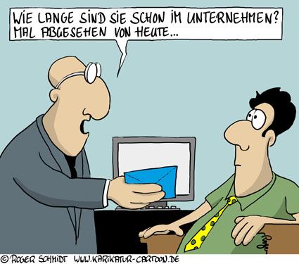 Karikatur, Cartoon: Vordruck für Ihre Kündigung, © Roger Schmidt