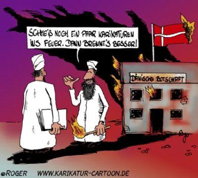 Karikatur, Cartoon: Kulturkampf, © Roger Schmidt