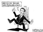 Karikatur, Cartoon: Kurz Propaganda © Roger Schmidt
