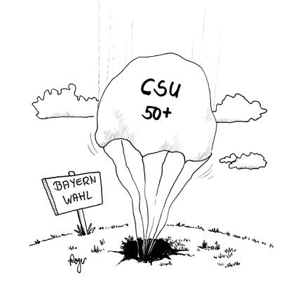 Karikatur, Cartoon: Landtagswahl in Bayern, © Roger Schmidt
