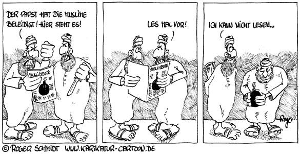 Karikatur, Cartoon: Leseschwäche, © Roger Schmidt