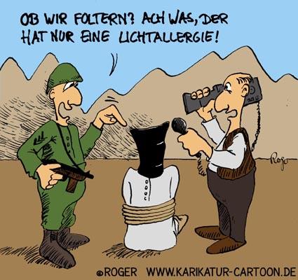 Karikatur, Cartoon: Einsatz im Irak und Afghanistan, © Roger Schmidt