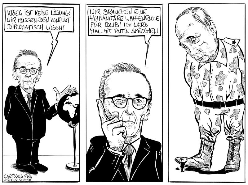 Karikatur, Cartoon: Das Maasmännchen - Appell an den