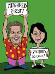 Karikatur, Cartoon: Maghreb first, Germany so what, © Roger Schmidt