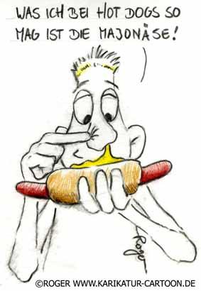 Karikatur, Cartoon: Majonäse, Majonaise, © Roger Schmidt