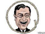 Karikatur, Cartoon: Mario Draghi © Roger Schmidt
