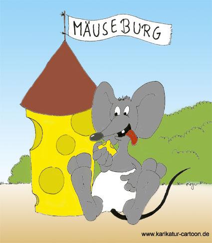 Karikatur, Cartoon: Maus, © Roger Schmidt