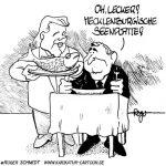Karikatur, Cartoon: Mecklenburgische Seenplatte, © Roger Schmidt