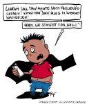 Karikatur, Cartoon: Medienkompetenz, © Roger Schmidt