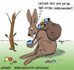 Karikatur, Cartoon: Mehrwegeier, © Roger Schmidt