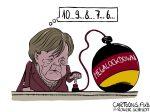 Karikatur, Cartoon: Merkel will den Megalockdown © Roger Schmidt