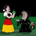 Karikatur, Cartoon: Merkels Einwanderungspolitik, © Roger Schmidt