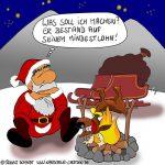 Karikatur, Cartoon: Mindestlohn für Rentier, © Roger Schmidt