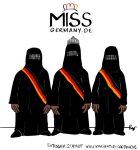 Karikatur, Cartoon: Miss Germany, © Roger Schmidt