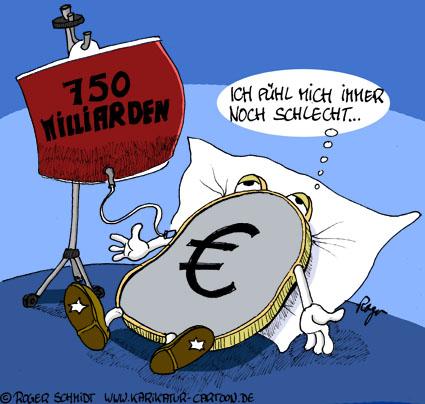 Karikatur, Cartoon: Das Mißtrauen wächst, © Roger Schmidt
