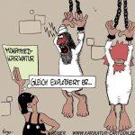 Karikatur, Cartoon: Mittelalter, © Roger Schmidt