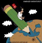 Karikatur, Cartoon: Mohammed Karikatur, © Roger Schmidt