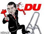 Karikatur, Cartoon: Mohring testet Annäherung an die Linke © Roger Schmidt