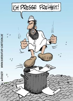 Karikatur, Cartoon: Mullah, © Roger Schmidt