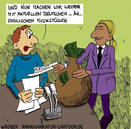 Karikatur, Cartoon: Musikindustrie, © Roger Schmidt