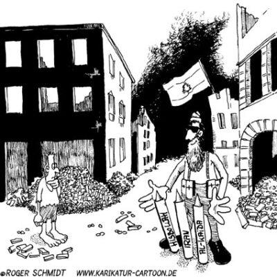Karikatur, Cartoon: Nahost-Konflikt, © Roger Schmidt