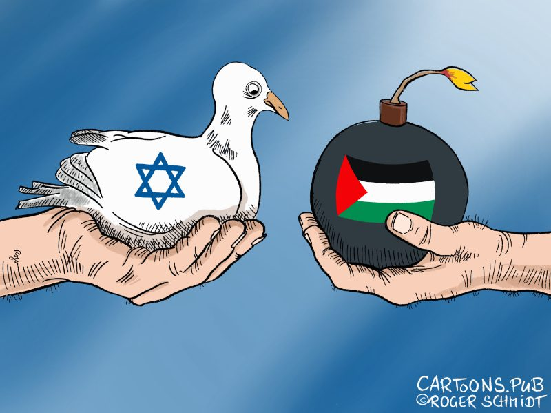Karikatur, Cartoon: Nahost-Konflikt Israel Palästina