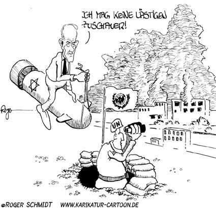 Karikatur, Cartoon: Nahost-Krise, © Roger Schmidt